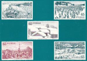 Stamps Of Sweden 1973 Province of Dalecarlia Issue