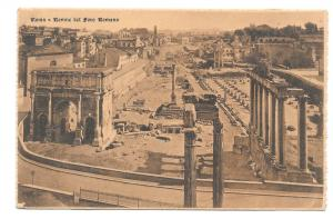 Italy Roman Forum Ruins Roma Vtg Cordari Ferrari Postcard