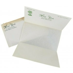 Hotel York Miami Beach FL Florida 1938 Stationary Envelope Paper Vintage Rare