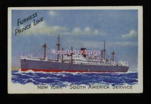 LS1454 - Furness Prince Line Liner - Advertising postcard - artist