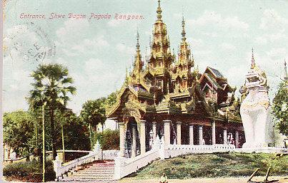 Entrance, Shwe Dagon Pagoda, Rangoon 1911