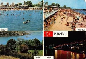 Turkey Istanbul Bogaz Kopru Atakoy Plaj Beach Bridge Galata