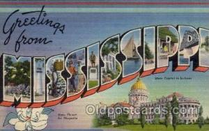 Mississippi Large Letter State States Post Cards Postcards  Mississippi USA