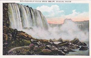 New York Niagara Falls Canadian Falls From Below