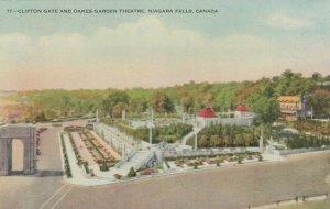 NIAGARA FALLS , Ontario , Canada , 1900-10s; Clifton Gate & Oakes Garden Theatre