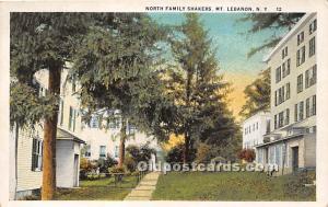 Old Vintage Shaker Post Card North Family Mount Lebanon, New York, NY, USA Un...