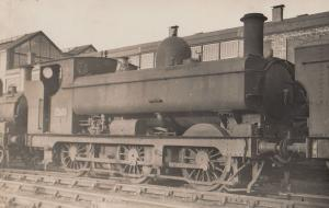 GWR Class 0-6-0 PT No 1723 Train At Swindon Railway Station RPC Postcard