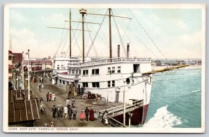 Venice CA Detroit Publishing #13589~Tourists Mill About The Cabrillo Cafe c1907