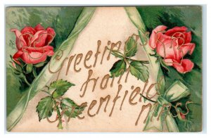 Greetings From GREENFIELD, MA Massachusetts 1907 Franklin County Postcard