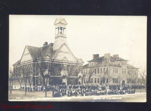 HOLDREGE NEBRASKA HIGH SCHOOL WEST WARD VINTAGE REAL PHOTO POSTCARD