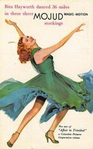 Rita Hayworth Mojud Stockings Movie Affair in Trinidad Postcard