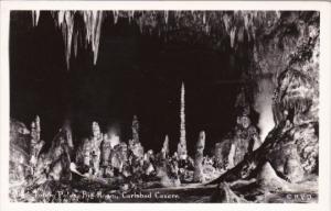 Totem Poles Big Room Carlsbad Caverns National Park New Mexico Real Photo