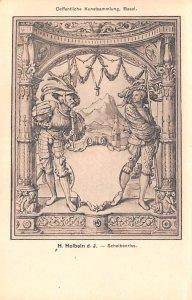 Artist Post Card Scheibenriss - H. Holbein d. J. Oeffentliche Kun...