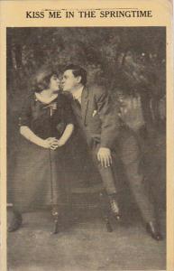 Romantic Couple Kiss Me In The Springtime