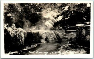 THERMOPOLIS, Wyoming RPPC Real Photo Postcard Big Horn Hot Springs c1930s