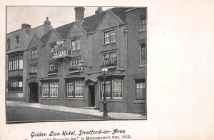 Golden Lion Hotel, Stratford-On-Avon, England, Early Postcard, Unused