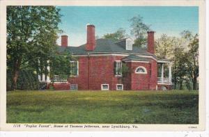 Virginia Lynchburg Poplar Forest Home Of Thomas Jefferson Curteich
