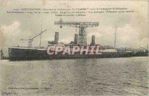 Postcard Old Saint Nazaire Chantiers de l'Atlantique