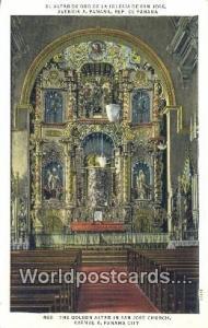 Panama Panama City Golden Altar, San Jose Church