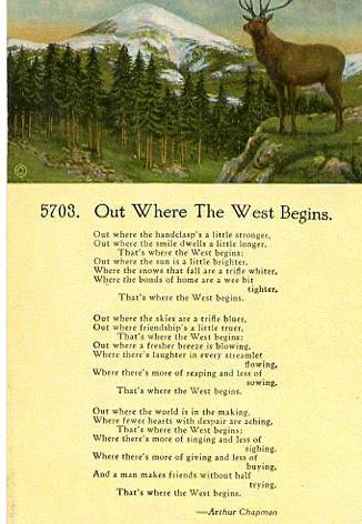 Poem - Out Where The West Begins