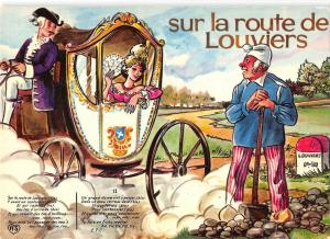 B99215 sur la route de louviers chariot  france types ethnics folklore