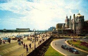 New Jersey Atlantic City View Of Boardwalk