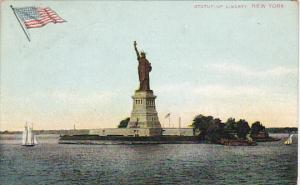 Statue Of Liberty New York Harbor 1913