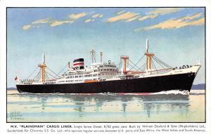 M.V. Plainsman Cargo Liner, Ship, Schiff, Bateau, Harry Hudson Rodmell