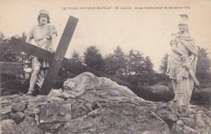 Jesus Tombe Pour La Troisieme Fois, Calvaire De Pont Chateau'- IX Station, Fr...