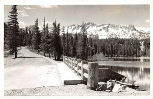 LPS16 Mammoth Lakes California Twin Lake and New Highway Postcard RPPC