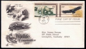 1971 US Sc #1430a FDC Wildlife Conservation Very Good Condition.