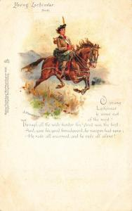 Young Lochinvar Artist Signed J. Finnemore Poem Early Tuck #460 Postcard