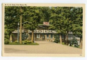 Postcard N. C. O. Club Fort Knox Ky. Kentucky Standard View Card