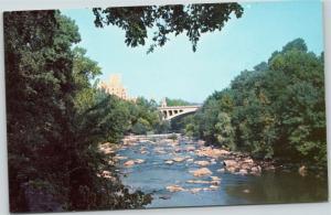 Brandywine Creek and Delaware Hospital Washington St Bridge Wilmington Delaware