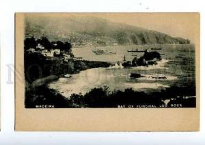 126614 PORTUGAL MADEIRA bay of FUNCHAL Loo Rock Vintage PC