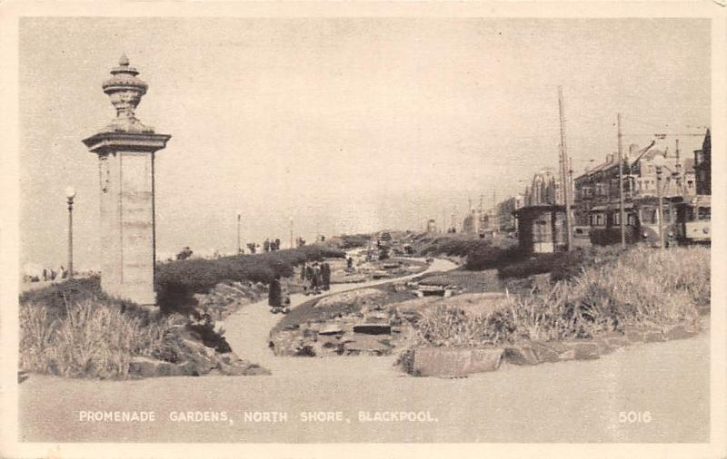 Blackpool, North Shore, Promenade Gardens, pathway