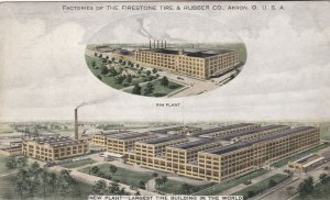 Ohio Akron Firestone Tire & Rubber Company Factories sk5114