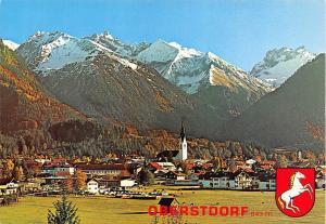 Luftkurort Oberstdorf Allgaeu mit Kegelkopf Gesamtansicht Kirche Berg