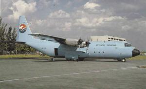 ST LUCIA Airlines Lockheed L.382F Hercules airplane , 60-80s