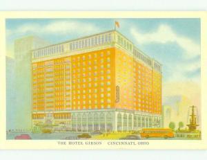 Unused W-Border GIBSON HOTEL Cincinnati Ohio OH hr8595