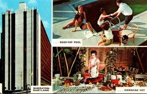 Maine Portland Sheraton-Eastland Motor Hotel Showing Hawaiian Hut Restaurant ...