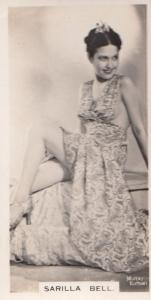 Sarilla Bell Hollywood Actress Rare Real Photo Cigarette Card