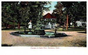 Connecticut  Danielson , Fountain in Davis Park