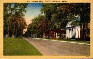 Maine Fryeburg Lower Main Street