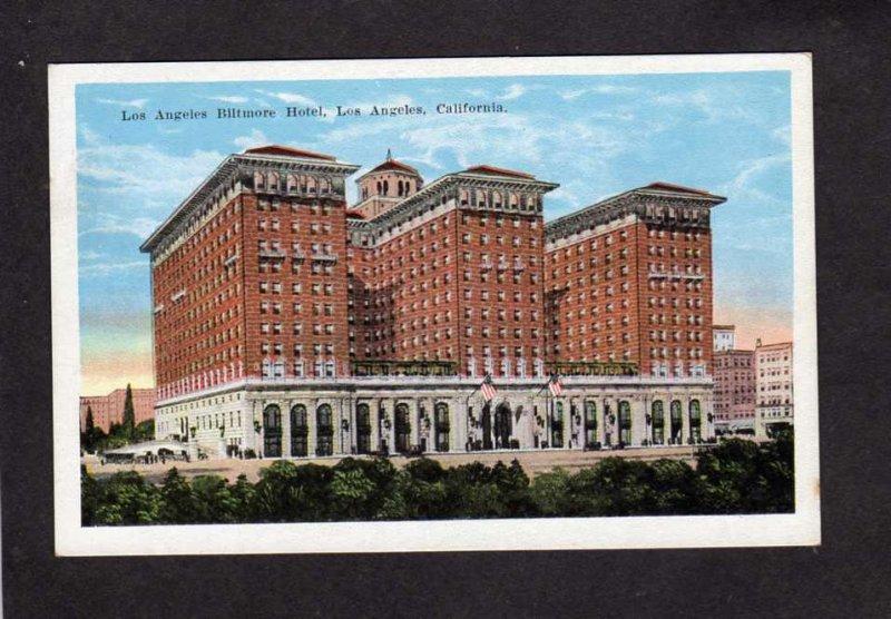 CA Biltmore Hotel Los Angeles California Postcard