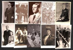 British Royalty, all images ,lot 54 vintage postcards