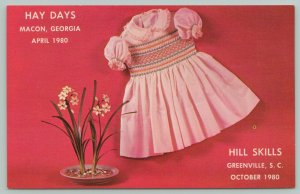 Macon Georgia~Hay Days Coliseum~Crafts & Smocked Trees 1980 Postcard