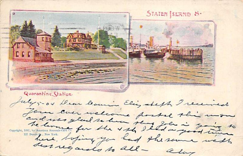 Staten Island New York, USA Postcard 1904