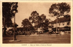 CPA AK VIETNAM SAIGON - Place du Théatre et Boulevard Bonnard (85964)
