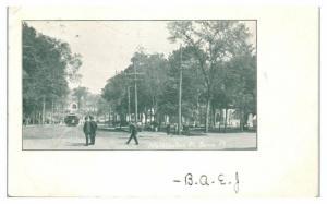 1907 Washington Street w/ Trolley, Barre, VT Postcard